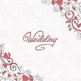 Wedding card with hearts Stock Images