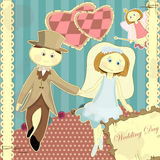 Wedding Card In Vintage Style Royalty Free Stock Image