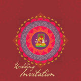 Wedding card. Indian wedding card concept vector illustration vector illustration
