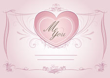 Wedding card invatation card template with pink floral Stock Image