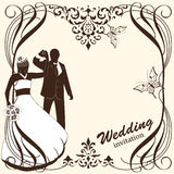 Wedding card invitation Royalty Free Stock Image