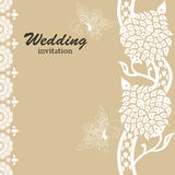 Wedding card invitation Royalty Free Stock Photography