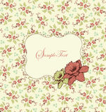 Wedding card or invitation with floral background Royalty Free Stock Image