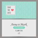 Wedding card invitation template Stock Image