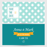 Wedding card invitation template Royalty Free Stock Photography