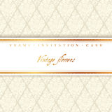 Wedding card with a light beige vintage background Royalty Free Stock Images