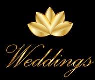 Wedding card logo. Wedding card invitation logo design vector Royalty Free Stock Image