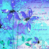 Wedding Card Or Invitation With Abstract Flower Ba Stock Photography