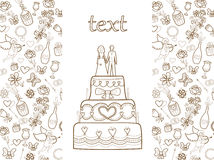 Wedding card pattern Royalty Free Stock Images