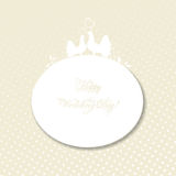 Wedding Card: Pigeons In Love Royalty Free Stock Photo