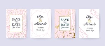 Pink Marble and gold texture background, card. Wedding card. Pink Marble and gold texture background. Elegant stylish design vector illustration