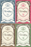 Wedding card with place for your text in vintage s Stock Images