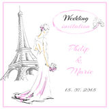 Wedding card priglasitelni Royalty Free Stock Photo