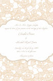 Wedding Card in Retro Design Royalty Free Stock Photo