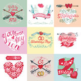 Wedding card set.Emblems,Labels,decorative Stock Image