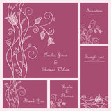 Wedding card set Royalty Free Stock Photography