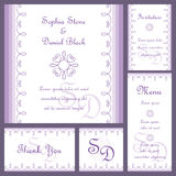 Wedding card set Stock Photography