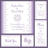 Wedding card set Stock Photography