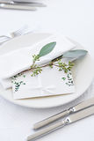 Wedding card on the table Royalty Free Stock Photo