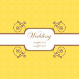 Wedding card template 2 Royalty Free Stock Photo