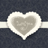 Wedding card template Stock Photo