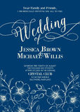 Wedding card template Royalty Free Stock Photography