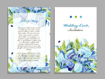 Wedding card template, floral design royalty free illustration