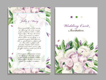 Wedding card template, floral design Royalty Free Stock Photo
