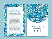 Wedding card template, marine design royalty free illustration