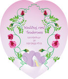 Wedding card Tenderness. Vector image of vintage style. Stock Images