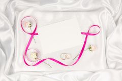 Wedding card for text and  accessories Stock Photos