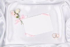 Wedding card for text and  accessories Stock Image