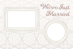 Wedding card. We've just married Stock Image