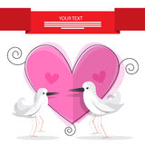 Wedding Card Vector Illustration Royalty Free Stock Images