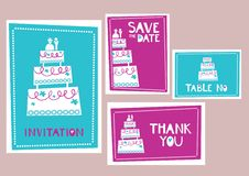 Wedding cards Royalty Free Stock Photo