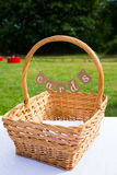 Wedding Cards Basket at Ceremony and Reception Stock Images