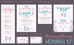 Wedding Cards Collection Stock Photography