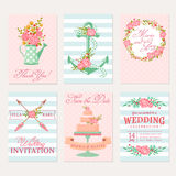 Wedding cards and invitations. Stock Image