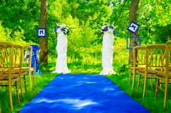 Wedding carpet Stock Images