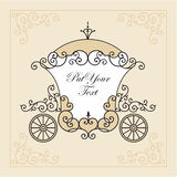 Wedding carriage Stock Image