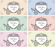 Wedding carriage Stock Images