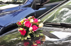 Wedding cars with flowers Stock Photography