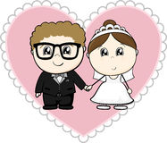 Wedding cartoon stock illustration