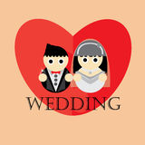 Wedding cartoon illustration  background. Wedding cartoon illustration  icons Stock Photography