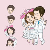 Wedding Cartoon. Vector and illustrator Stock Image