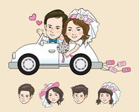 Wedding Cartoon Stock Image
