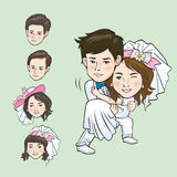 Wedding Cartoon. Vector and illustrator Stock Photo