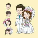 Wedding Cartoon. Vector and illustrator Royalty Free Stock Photo