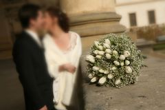 Wedding in a castle stock image