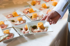 wedding catering food Royalty Free Stock Images